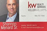 Shannon Menard Sr. Realtor